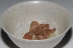 roasted bone marrow - beef consommé, pearl onion