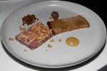 Quebec venison terrine, shaved foie gras, apple purée, pistachio granola