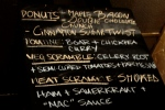 The Donuts by Rachelle menu and some extra brunch menu items