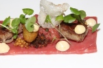 Aged beef ribeye, bone marrow, watercress, shallots