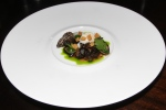 Burgundy snails, morel mushrooms, parsley, quail egg