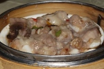 #12 Steamed spare rib in assorted black bean sauce S $3.00
