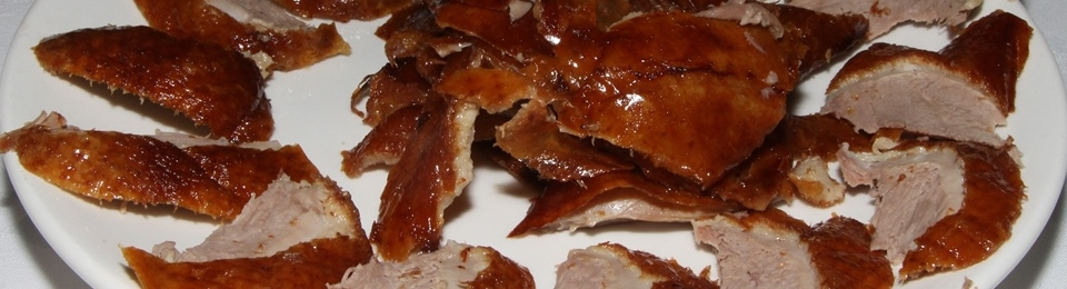 Roasted Peking duck (with lettuce and vegetables) $38.00