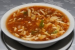 Hot and sour soup with seafood $5.50