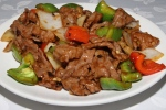 Sautéed beef with black bean sauce and vegetables $9.50