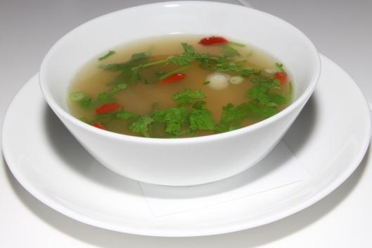Yucatan hot n' sour soup, smoked chicken, goji berries, chilies, coriander $12