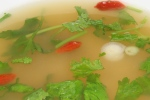 Yucatan hot n' sour soup, smoked chicken, goji berries, chilies, coriander $12