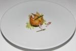 Cod coquette, basil Myer lemon purée, radish, chives, frisée lettuce