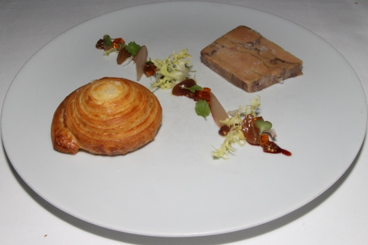 Foie Gras Terrine Sea salt brioche, pickled grapes, maple jelly and sour cherry glaze. $28