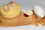 Lemon Meringue Lemon cream, Italian meringue, vanilla shortbread crust and coconut lime sorbet. $14