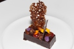 terroir noir, Langdon Hall signature dark chocolate, green house garnish, Ontario peanuts