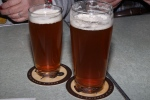draught beer large and small glasses (12 oz. and 20 oz.)