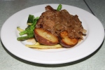 pan seared provimi calves liver, with dijon glazed onions and roasted mini red potatoes $23